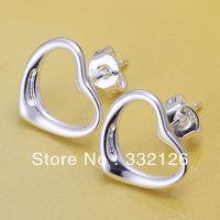 JE099 Hot sale, lowest price wholesale 925 solid Silver earring Fashion women charm Jewelry earring, Warm Heart Earrings