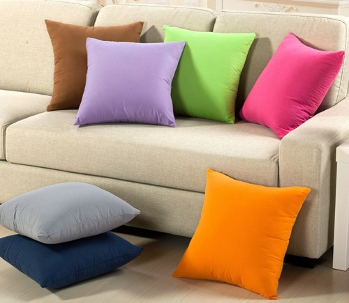 #551 sofa cute pure office home pillow cover cushion cover freeshipping min4pcs wholesale(China (Mainland))