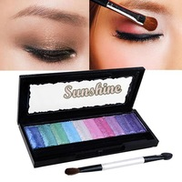 10 Colors Baked Eyeshadow Palette Glitter Pro Makeup Cosmetics Eye Shadow Pigment Set free shipping Wholesale&Retail 4381