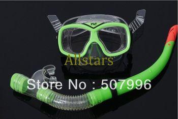 Free Shipping Brand New PVC Swimming Swim Dive Diving Scuba Goggles Glass Mask Snorkel Set