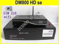 2014 hot selling  HD satellite tv receiver  800se with sim210  suporrt  300M wifi  boot SSL84# dm800hd se free shipping 800hd se