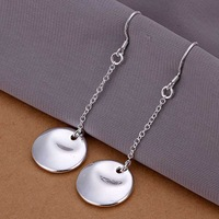 Factory price top quaility 925 sterling silver jewelry earring fine smooth round jewelry earring free shipping SMTE060