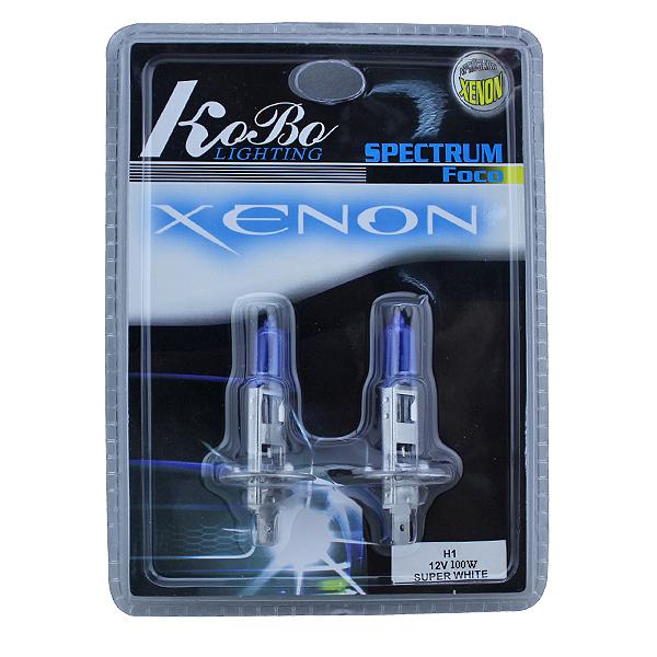 2 x H1 Xenon Halogen Auto HeadLight Bulb Kit 6000K 12V 100W + Free Shipping LP12010(China (Mainland))