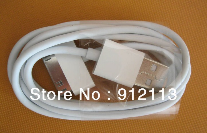 OEM Style iPhone / iPod Data Link / Charger Cables 200 pcs/lot 1m length / 6 PIN perfectly fits Your iphone wall / car charger(China (Mainland))