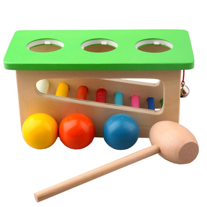 Crianças-bebê-madeira-som-Knock-Off-BallEducational-brinquedos ...