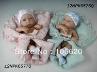 "12"" baby doll set  Lifelike Reborn Baby Silicone  two pcs a set twins toys for girls"