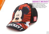 Free shopping 2013 New  Bonnet wholesale  Mickey hat sunhat baseball limpet mine cap for children cool caps Black colour 03107