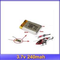 10pcs/lot 3.7v 240mAh LiPo Battery SH 6020 Mini 3CH Helicopter RC Battery +free shipping