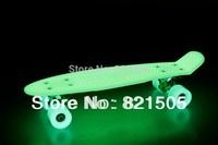 "Free shipping  22"" Globe bantam Retro Mini Cruiser Skateboard Glow in the dark"