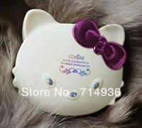 Free Drop shipping Promotion 100% New brand Minerals makeup Set hello kitty cat 10 EYE SHADOW +3  blush + 3 lip gloss + tools M1