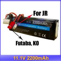 RC Transmitter Lipo Battery 2200mAh 11.1V For JR Futaba BEC +free shipping
