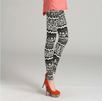 Wholesale + Free Shipping!! New!! 2013 Women Lady Large Size Printed Cotton Leggings Pants Fashion 3 Color