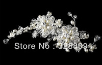 2013 New style designer alloy luxurious pearll flower  fashion wedding Hairpins bridal hair combs retail / wholesale