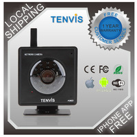 Tenvis Mini319W Black Easy Mini WIFI Baby Monitor IR LED 2-Way Audio Night Vision CCTV CMOS Black& whit IP Camera