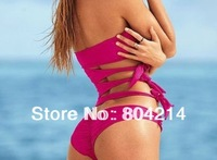 Women Cut Out Side Push Up Padded Monokini Swimsuit One Piece Bikini swimwear