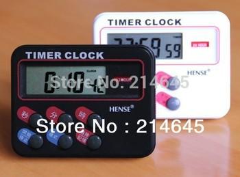 FREE SHIPPING,Electronic countdown timer kitchen timer reminder alarm clock