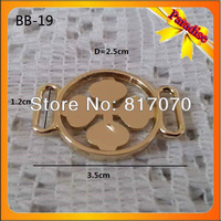 (BB-19) Hot sale factory gold buckle zinc alloy metal slider buckle for bags accessory