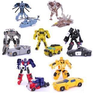 7pcs/lot 9cm Deformation Robot LEGENDS 3C Domestic Action Figures boy's birthday toy WIthout original box