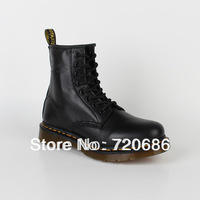 High Quality Dr.1460 8 black soft leather martin boots martin shoes for men and women famous brand designer cheap discount