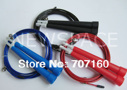 Ultra adjustable Speed Cable Jump Ropes,steel wire - 20pcs free shipping(China (Mainland))