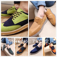 free shipping Man british style shoes vintage lacing shoes autumn and winter casual shoes bullock carved