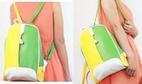 Women's handbag color block bags backpack small bag school bag duomaomao fashion bag Free shipping