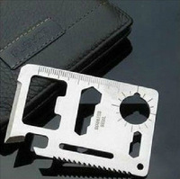free shipping Multi 11 in 1 multifunction Tool Card Emergency Survival pocket Knife