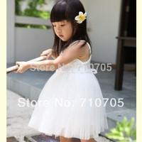 Free shipping  Children's Clothing  girl dress  Rose  Pure  Sleeveless  Tutu  Cute 5 pcs / lot  100% Cotton  The wholesale