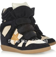 Wholesale Isabel Marant Bekket High top Colourful Star Sneakers Womens Genuine Leather Boots and Drop shipping