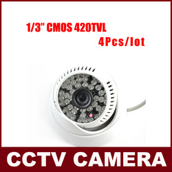 4Pcs Per Lot 420TVL 48LED 3.6Lens Indoor/Outdoor Nightvision IR Dome Camera Security Camera Free Shipping(China (Mainland))