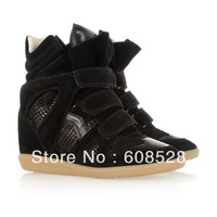 Wholesale Isabel Marant Bekket High Top Wedge New arrival Colorful Sneakers Womens Genuine Leather Boots and Free shipping