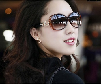 free shipping Big Box UV protective Women Sunglasses Elegant Sunglasses For Women 5 colors