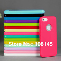 for iphone 5s case 5 soft TPU silicone rubber skin Candy Color  1pcs free shipping