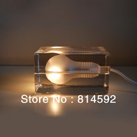 Swedish Design House Stockholm ice lights / ice cream for lamp black lineseries of ice block house design table lamp