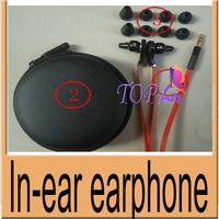50pcs/lot 4 Colors Best Deluxe Earphone Headset Headphone In Ear 3.5MM Straight Plug Control Talk Case Free shipping