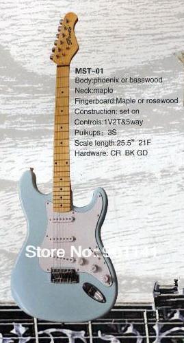 String Music Instrument, Electric Guitar,MST-01, Controls:1V2T&5WAY, Puikups:3S(China (Mainland))