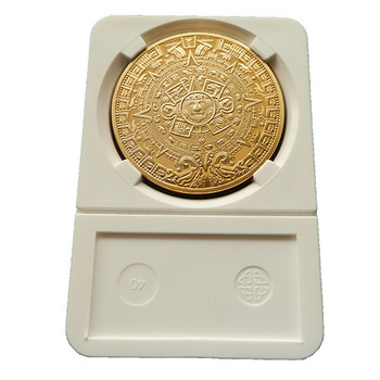 24PCS/lot,wholesale Excellent Replica Mayan Prophecy Commemorative Coin 999 gold plated