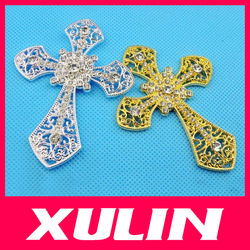 HOT! Bling Bling 3D Alloy Cross DIY Phone Jewelry Decoration Cell Phone Accessories Case Deco Kit(China (Mainland))