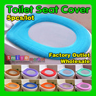 Hot!!  Free shipping  5pieces/lot SOFT and COMFORTABLE Toilet Seat Cover(Random Send Colors,Have large Stock for any time)(China (Mainland))