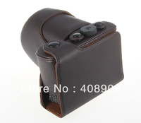 Coffee Brown New Camera PU-Leather Case Cover Bag Pouch Wrist Strap for Sony NEX7 NEX-7