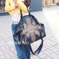 2013 New Arrival Fashionable rivets handbags,Commuter restoring ancient ways messenger bag.Z-324 Free shipping