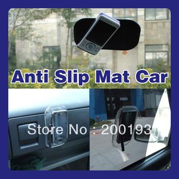 SMILE MARKET Free shipping 5pcs/lot Wholesale Magic Car Anti Slip Mat  for Phone,Mp3,Mp4,Gps (random mix black and transparent)