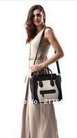 2014 New arrival fashion louis handbag designer brand genuine PU leather handbag women totes purses Boston handbag High quality