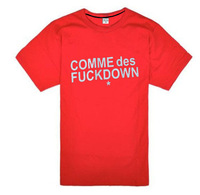 Free Shipping High quality NWT COMME Des GARCONS CDG PLAY men T-shirt 100% cotton cdg player cdg shirt