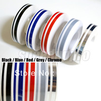 Free shipping Pin Stripe Tape Streamline Decals Stickers for Car 12*9800mm Black Blue Red Grey Decoration Strip