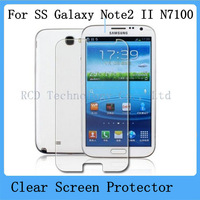 New CLEAR Screen Protector ,LCD Screen Guard,Protective Film For Samsung Galaxy Note 2 II N7100 Free Shipping By Air Mail