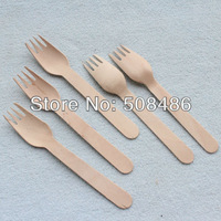 Free Shipping 50 x Wedding Wooden Disposable Fork | Wood Cutlery Party Supply