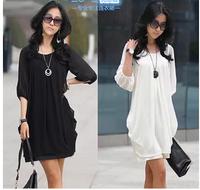 Maternity 2014 spring elegant maternity clothing top maternity dress chiffon skirt dress short-sleeve