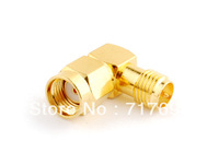 RP-SMA male to RP-SMA female right angle adapter connector