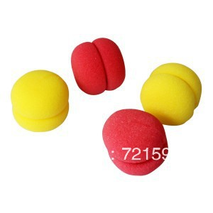 Free Shipping 12PSC/LOT Round Ball Sponge Hair Ball Hair Styling Hair Curler